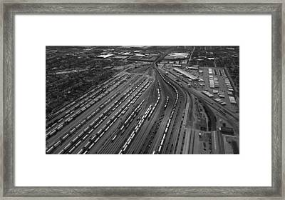 Chicago Transportation 02 Black And White Framed Print by Thomas Woolworth