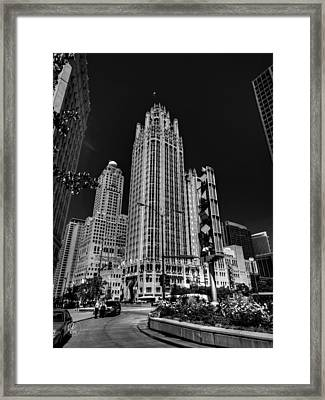 Chicago - Tribune Tower 001 Framed Print by Lance Vaughn
