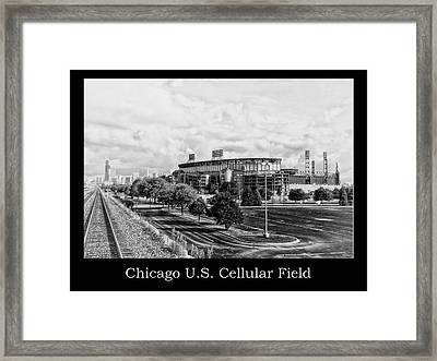 Chicago Us Cellular Field Bw Framed Print