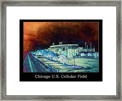 Chicago Us Cellular Field Textured Framed Print