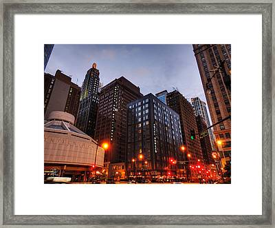 Chicago - Wabash And Wacker 001 Framed Print by Lance Vaughn