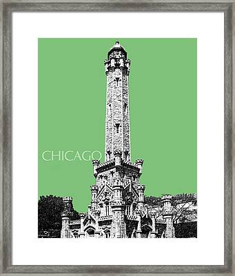 Chicago Water Tower - Apple Framed Print