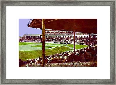 Chicago White Sox Ballpark Stadium Around 1920 Framed Print by Dwight Goss