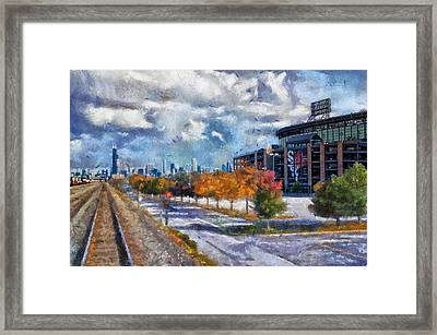 Chicago White Sox Us Cellular Field Mixed Media 02 Framed Print