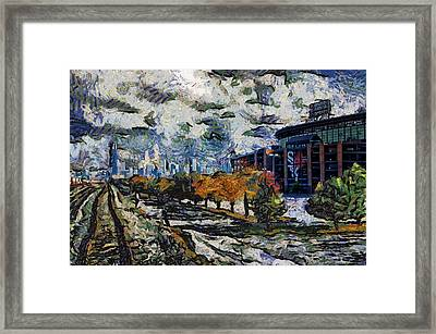 Chicago White Sox Us Cellular Field Mixed Media Abstract Framed Print