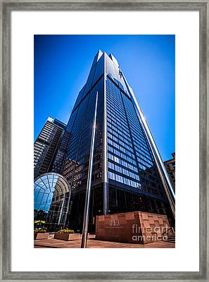 Chicago Willis Sears Tower High Resolution Picture Framed Print