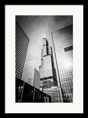 View. Chicago Framed Prints