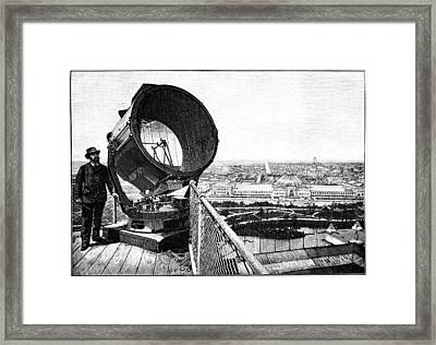 Chicago World Fair Searchlight, 1893 Framed Print by Science Photo Library
