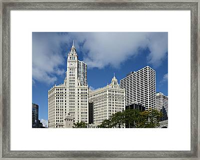 Chicago - Wrigley Building Framed Print