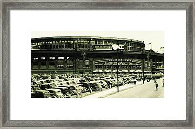 Chicago's Comiskey Park Framed Print by Bill Cannon