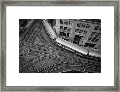 Chicago's Cta Train Framed Print by Mike Burgquist
