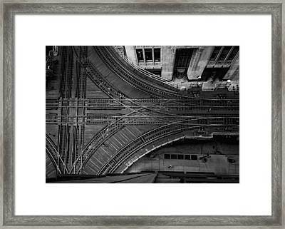 Chicago's Elevated Intersection Framed Print by Mike Burgquist