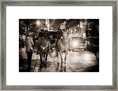 Chicago's Finest Framed Print by Melinda Ledsome