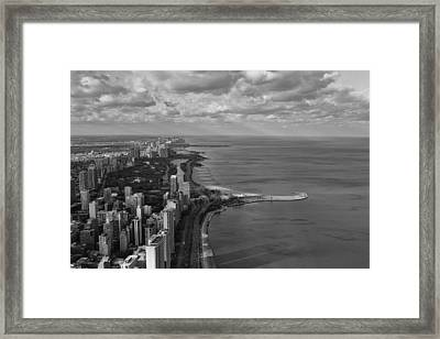 Chicago's Lake Front Framed Print by Jerome Lynch