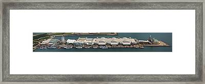 Chicago's Navy Pier Aerial Panoramic Framed Print by Adam Romanowicz