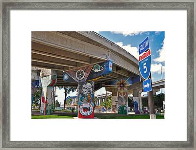 Chicano Park Framed Print by Todd Hartzo
