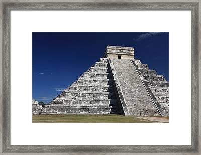 Chichen Itza Mayan Ruins Yucatan Peninsula Mexico Framed Print by Wayne Moran