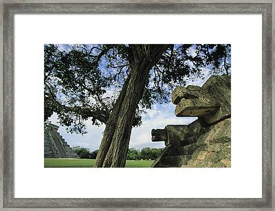 Chichen Itza Scene Framed Print by Steve Winter