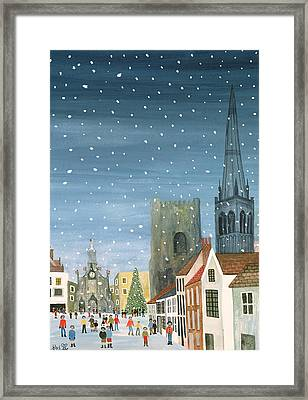 Chichester Cathedral A Snow Scene Framed Print