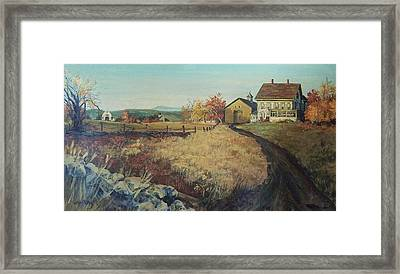 Framed Print featuring the painting Chichester Cut-off by Joy Nichols