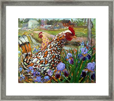 Chick And Iris Framed Print