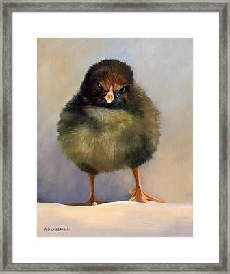 Chick With Attitude Framed Print by Alecia Underhill