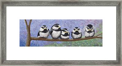 Chickadee Chicks Framed Print