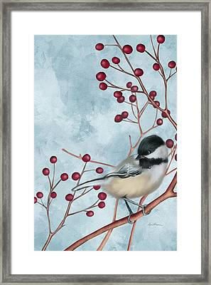 Chickadee I Framed Print by April Moen