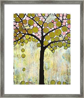 Chickadee Tree Framed Print by Blenda Studio