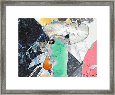 Chicken A La Picasso Framed Print by Louis Nugent