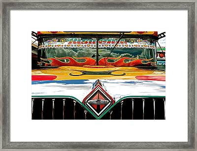 Chicken Bus 1 Framed Print by Eye Browses