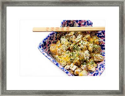 Chicken Cheese Potato Casserole Framed Print by Andee Design