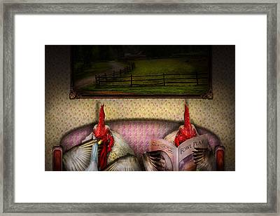 Chicken - Chick Flick Framed Print by Mike Savad