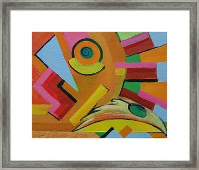Chicken Cog Framed Print