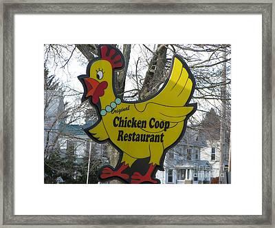 Chicken Coop Framed Print