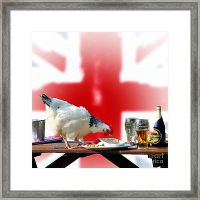 Chicken For Lunch Framed Print by Michelle Orai