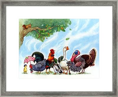 Chicken Licken Framed Print by Isabella Kung