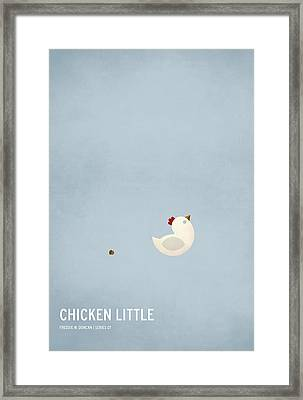Chicken Little Framed Print by Christian Jackson