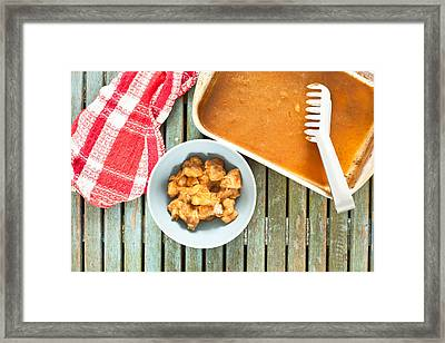 Chicken Meal Framed Print by Tom Gowanlock