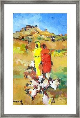 Chicken  Framed Print by Negoud Dahab
