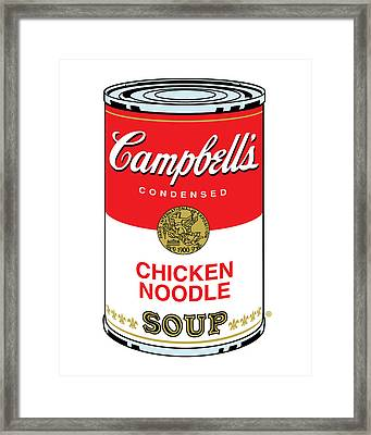 Chicken Noodle Soup Framed Print by Gary Grayson
