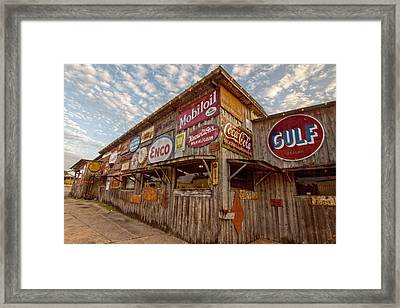 Chicken Oil Company Signs Framed Print
