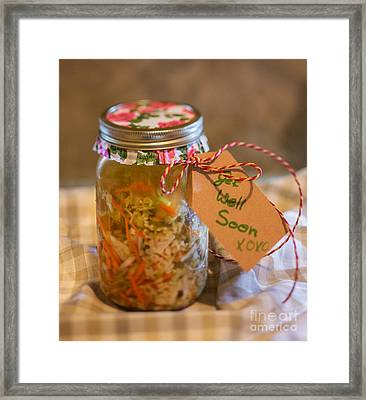 Chicken Soup Cure Framed Print