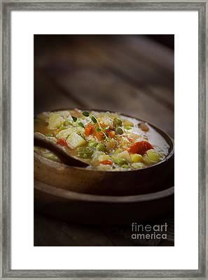 Chicken Stew Framed Print by Mythja  Photography