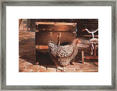 Chicken With Trunk Framed Print