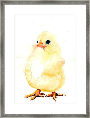 Chickens Watercolor - Peeper  Framed Print