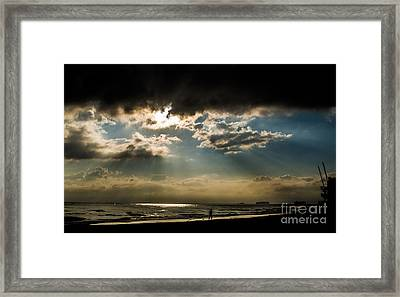 Framed Print featuring the photograph Chick's Beach Morning by Angela DeFrias