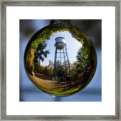 Chico Water Tower Framed Print by Robert Woodward