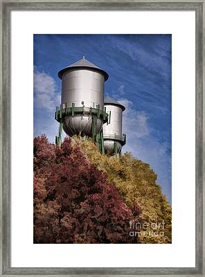 Chico Water Towers Framed Print