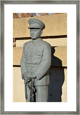 Chico's General Vang Statue In January 2014 Framed Print by James Warren